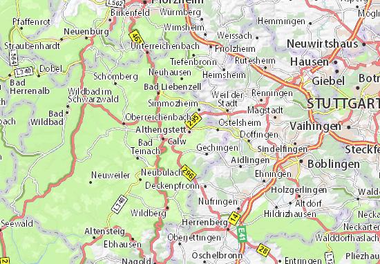 Althengstett Map