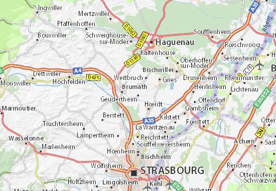 Geudertheim Map