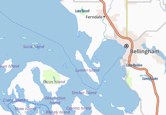 Ferndale Washington Map.Map Of Lummi Island Michelin Lummi Island Map Viamichelin
