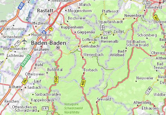 Kaart Plattegrond Weisenbach