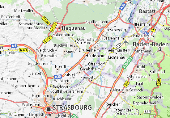 Herrlisheim Map