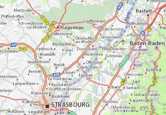Kaart Plattegrond Herrlisheim