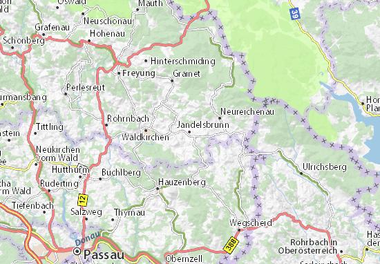 Jandelsbrunn Map