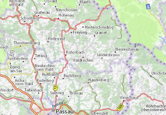 Carte-Plan Waldkirchen