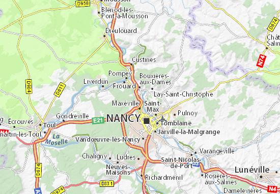 Mapas-Planos Champigneulles