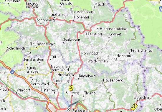 Röhrnbach Map
