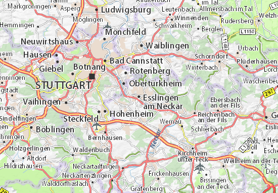 Karte Stadtplan Esslingen am Neckar