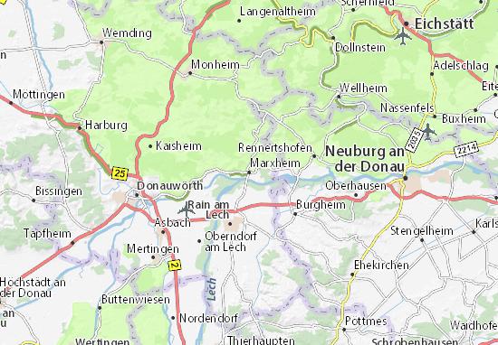 Karte Stadtplan Marxheim