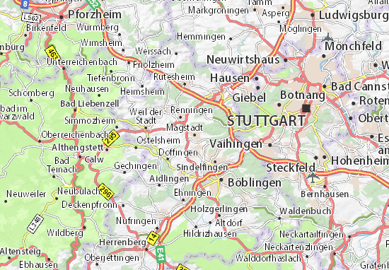 Carte-Plan Magstadt
