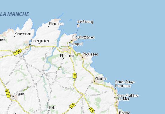 Plouézec Map