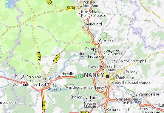 Liverdun Map