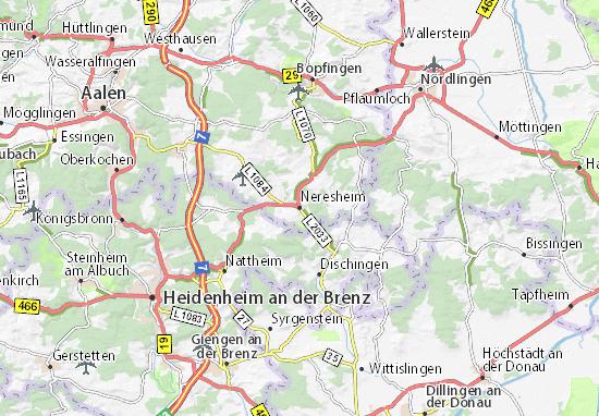Carte-Plan Neresheim