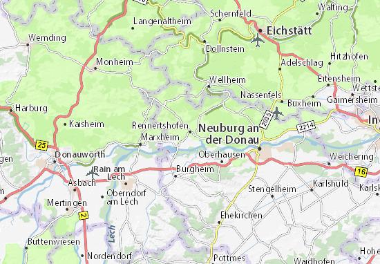 Rennertshofen Map