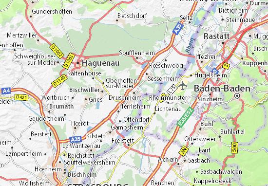 Carte-Plan Drusenheim