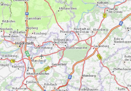 Karte Stadtplan Münchsmünster