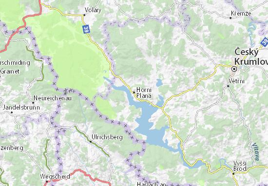 Mapa Plano Horní Planá