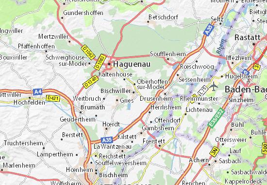 Karte Stadtplan Bischwiller