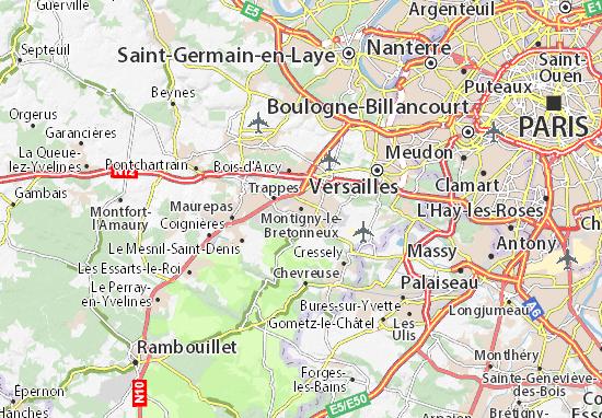Carte-Plan Montigny-le-Bretonneux