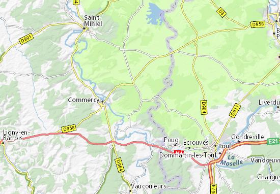 Kaart Plattegrond Geville
