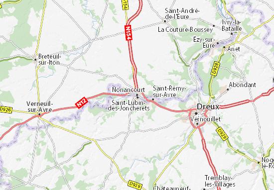 Carte-Plan Nonancourt