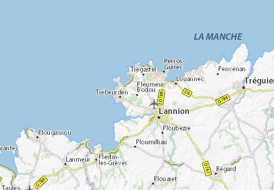 Pleumeur-Bodou Map