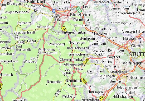 Karte Stadtplan Bad Liebenzell