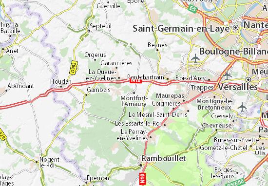 Mapa Plano Montfort-l'Amaury