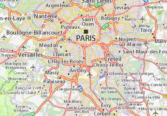 Kaart Plattegrond L'Haÿ-les-Roses