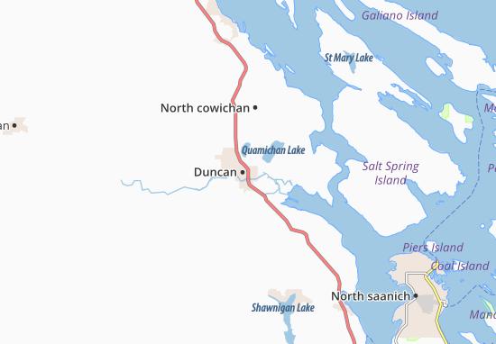 Kaart Plattegrond Duncan