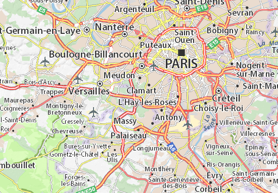 Le Petit-Clamart Map