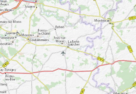 Kaart Plattegrond La Ferté-Gaucher