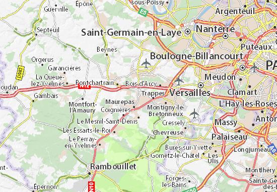 Mapa Plano Élancourt