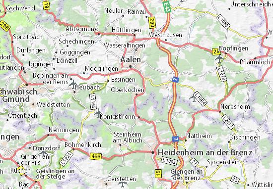 Oberkochen Map