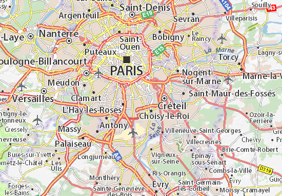 Carte-Plan Vitry-sur-Seine