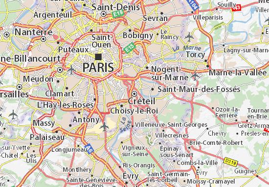 Kaart Plattegrond Créteil