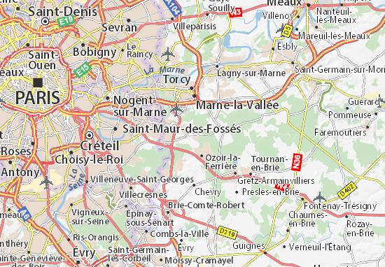 Roissy-en-Brie Map