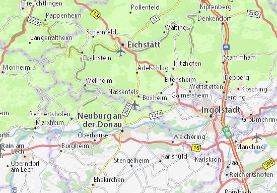 Karte Stadtplan Nassenfels
