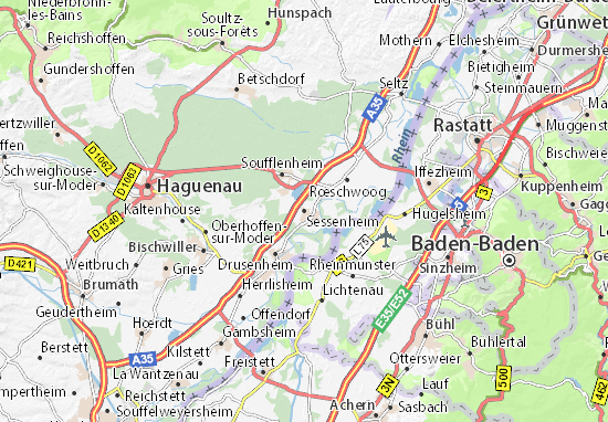 Kaart Plattegrond Sessenheim