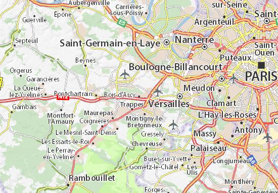 Carte-Plan Bois-d'Arcy