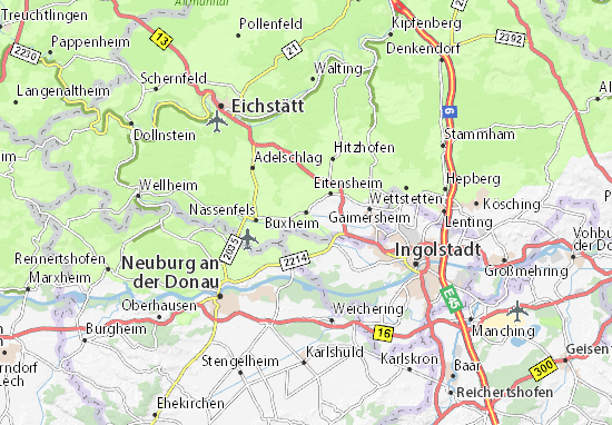 Karte Stadtplan Buxheim