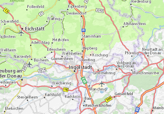 Karte Stadtplan Lenting
