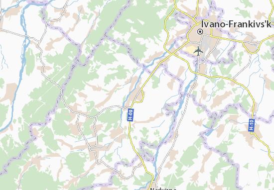 Mapas-Planos Bohorodchany