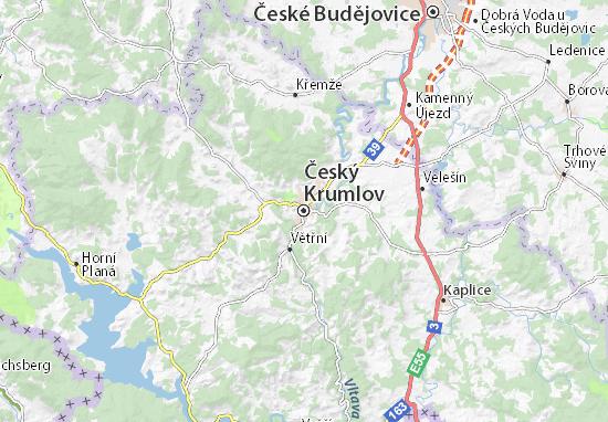 Karte Stadtplan Český Krumlov