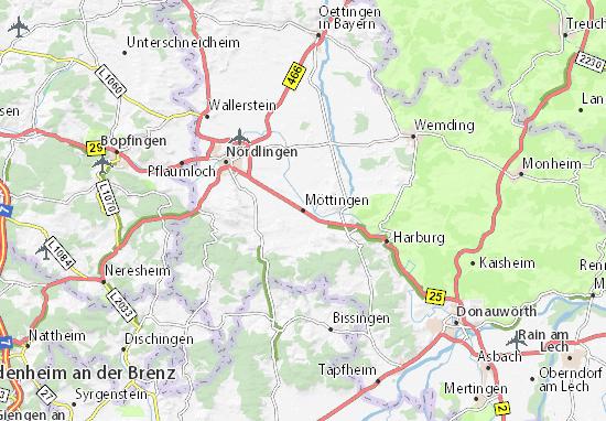 Möttingen Map