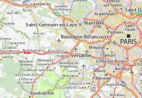 Carte d taill e fontenay le fleury plan fontenay le - Meteo rueil malmaison ...