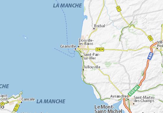 Carte-Plan Saint-Pair-sur-Mer