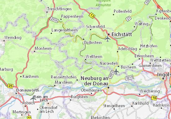 Karte Stadtplan Wellheim