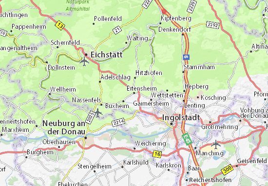 Eitensheim Map