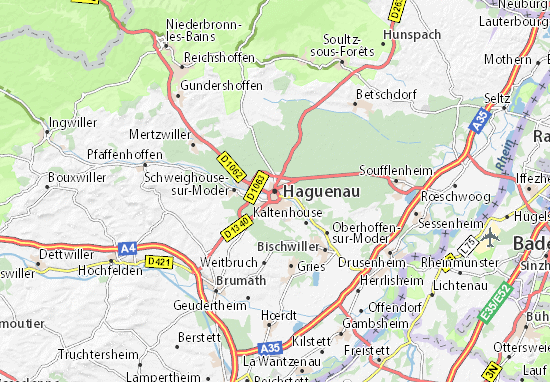 map of haguenau michelin haguenau map viamichelin. Black Bedroom Furniture Sets. Home Design Ideas