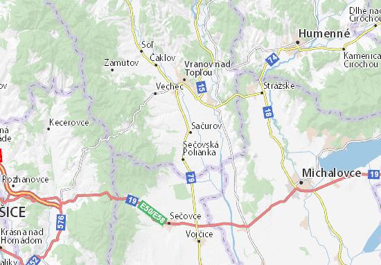 Sačurov Map